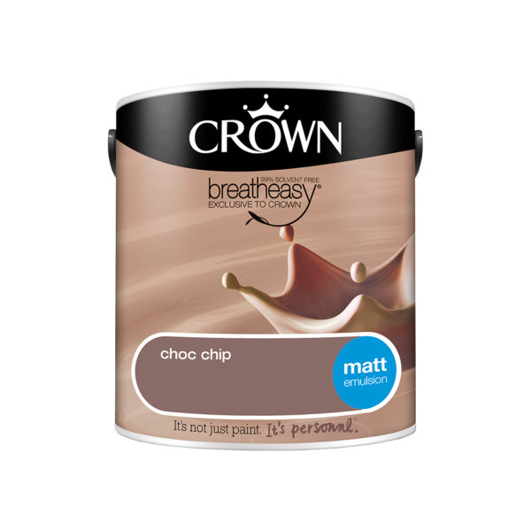 Crown Matt Emulsion 2.5Lt - Neutrals - Choc Chip