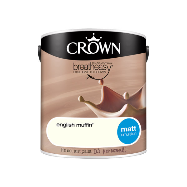Crown Matt Emulsion 2.5Lt - Neutrals - English Muffin