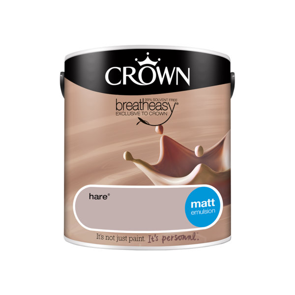 Crown Matt Emulsion 2.5Lt - Neutrals - Hare