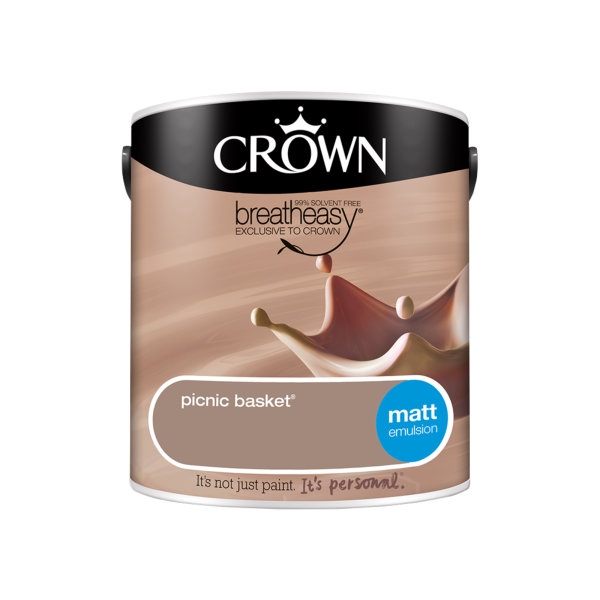 Crown Matt Emulsion 2.5Lt - Neutrals - Picnic Basket