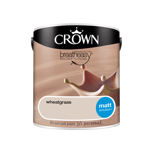 Crown Matt Emulsion 2.5Lt - Neutrals - Wheatgrass