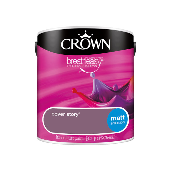 Crown Matt Emulsion 2.5Lt - Reds - Cover Story