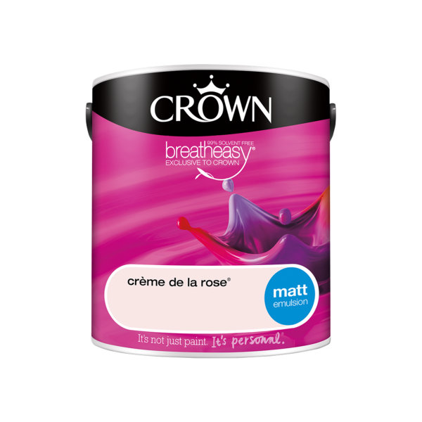 Crown Matt Emulsion 2.5Lt - Reds - Creme de la Rose