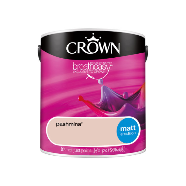 Crown Matt Emulsion 2.5Lt - Reds - Pashmina
