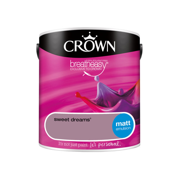 Crown Matt Emulsion 2.5Lt - Reds - Sweet Dreams