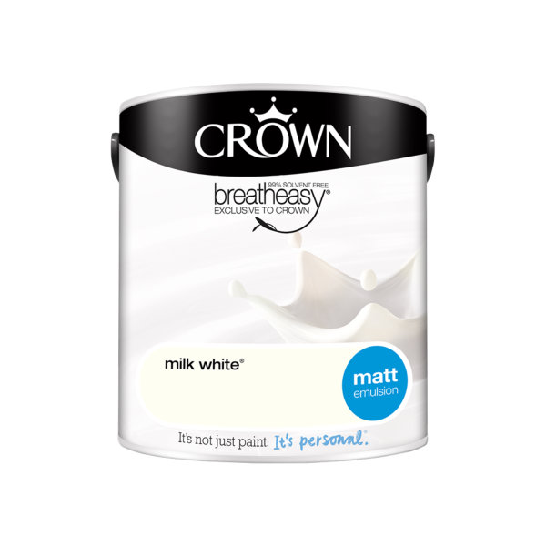 Crown Matt Emulsion 2.5Lt - Whites - Milk White