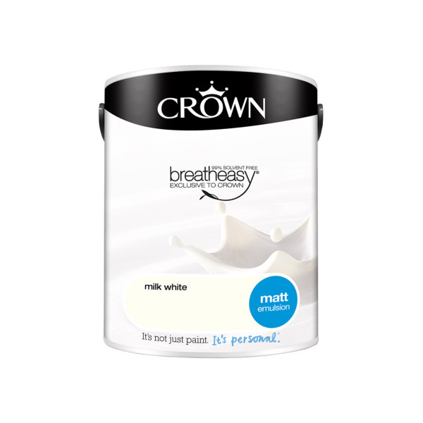 Crown Matt Emulsion 5Lt - Milk White