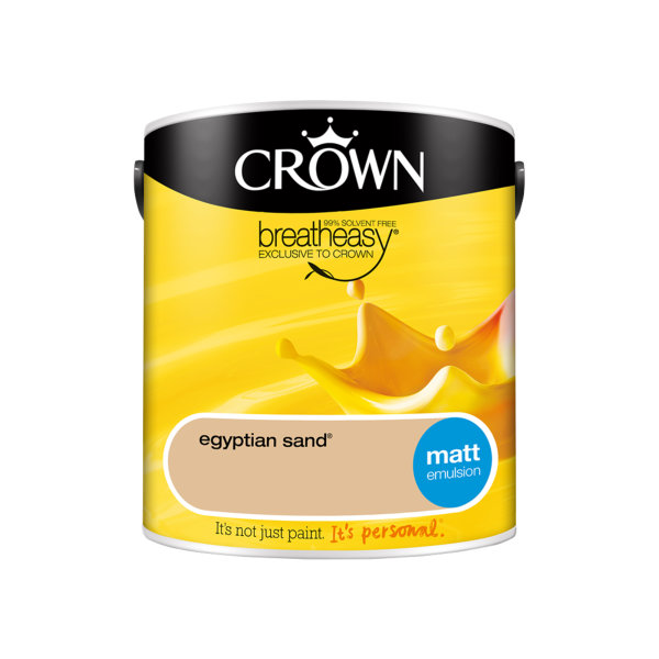 Crown Matt Emulsion 2.5Lt - Yellows - Egyptian Sand