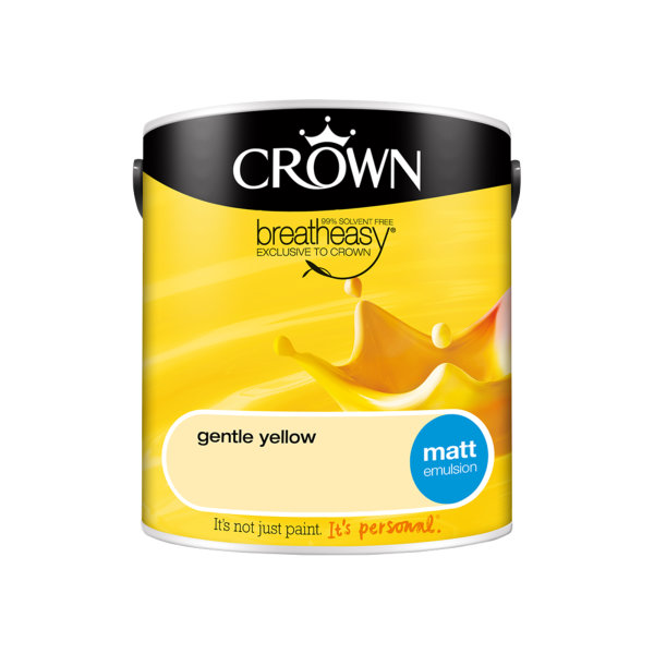 Crown Matt Emulsion 2.5Lt - Yellows - Gentle Yellow