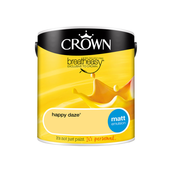 Crown Matt Emulsion 2.5Lt - Yellows - Happy Daze