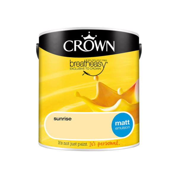 Crown Matt Emulsion 2.5Lt - Yellows - Sunrise