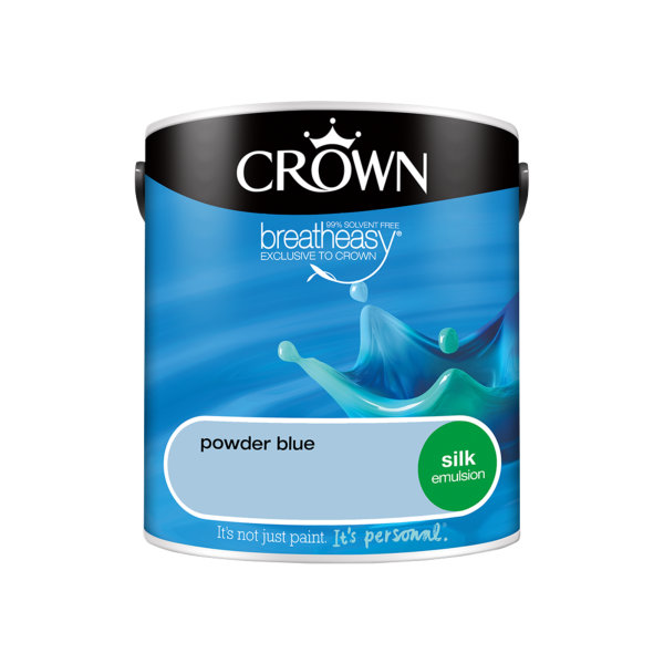 Crown Silk Emulsion 2.5Lt - Blues - Powder Blue