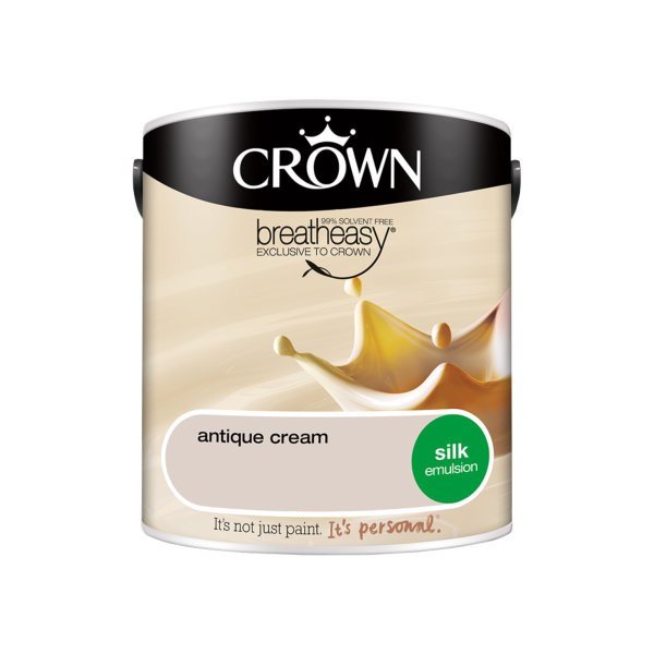 Crown Silk Emulsion 2.5Lt - Creams - Antique Cream
