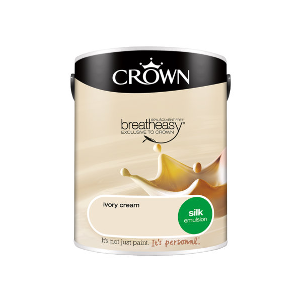 Crown Silk Emulsion 5Lt - Ivory Cream