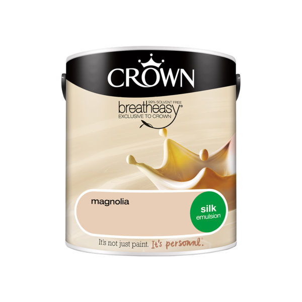 Crown Silk Emulsion 2.5Lt - Creams - Magnolia