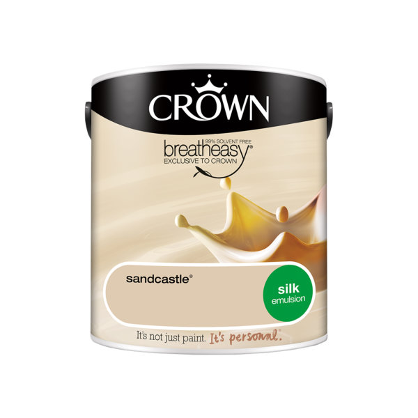 Crown Silk Emulsion 2.5Lt - Creams - Sandcastle