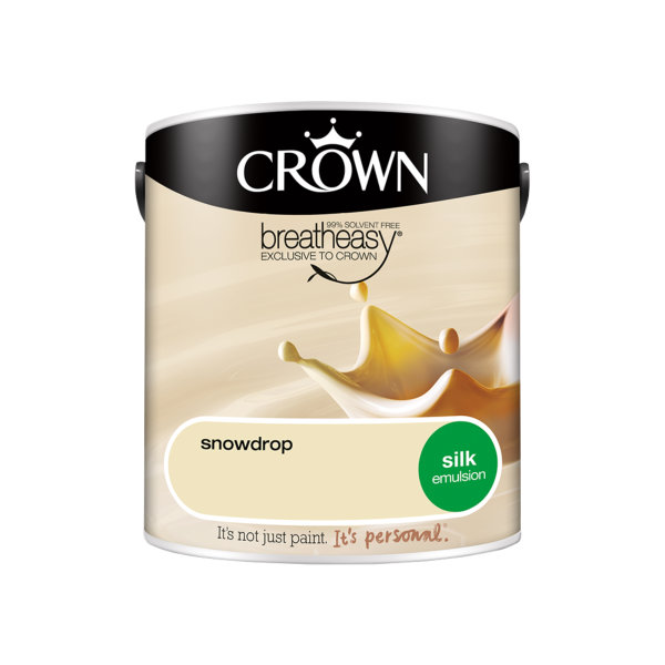 Crown Silk Emulsion 2.5Lt - Creams - Snowdrop