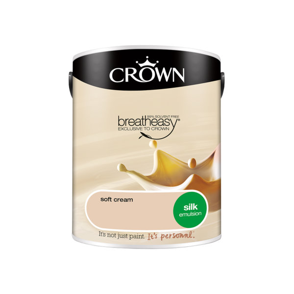 Crown Silk Emulsion 5Lt - Soft Cream