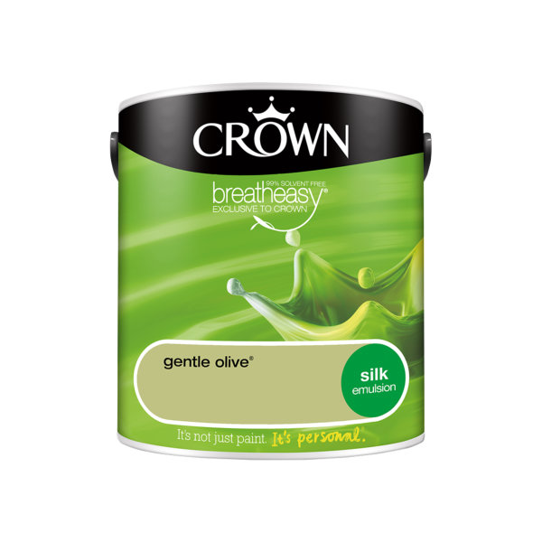 Crown Silk Emulsion 2.5Lt - Greens - Gentle Olive