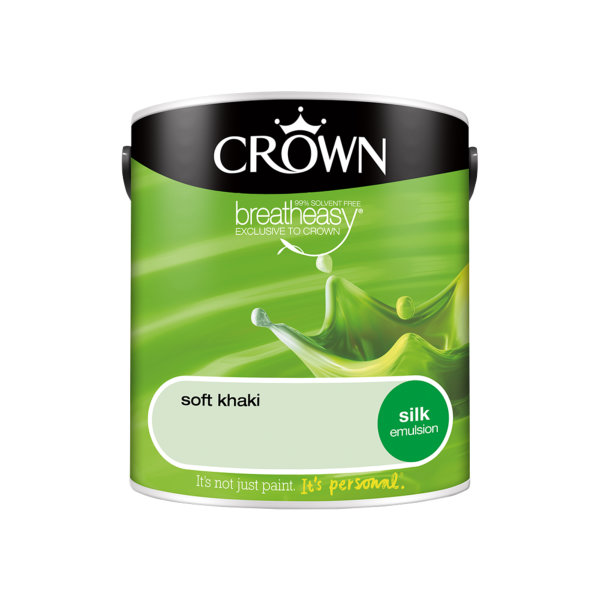 Crown Silk Emulsion 2.5Lt - Greens - Soft Khaki