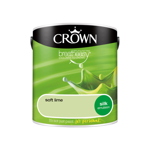 Crown Silk Emulsion 2.5Lt - Greens - Soft Lime
