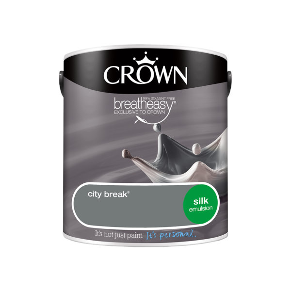 Crown Silk Emulsion 2.5Lt - Greys - City Break