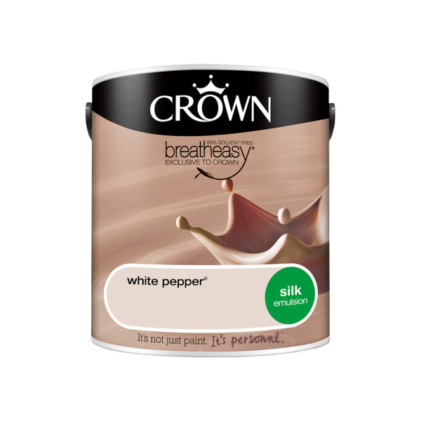 Crown Silk Emulsion 2.5Lt - Neutrals - White Pepper