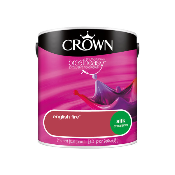 Crown Silk Emulsion 2.5Lt - Reds - English Fire
