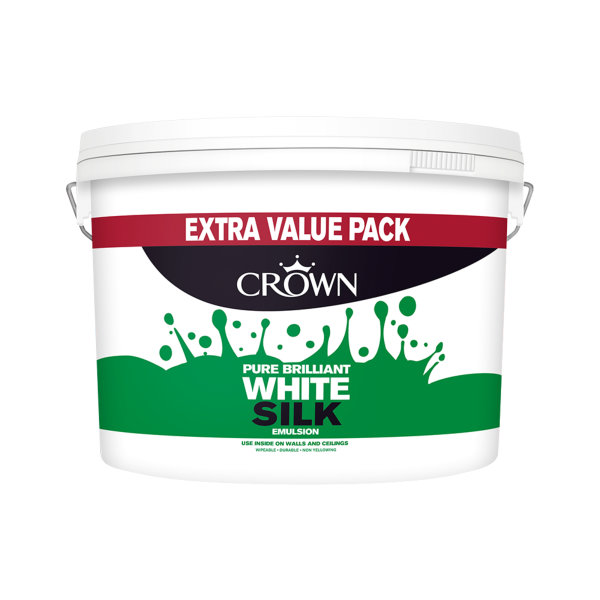 Crown Silk Emulsion 7.5Lt - White