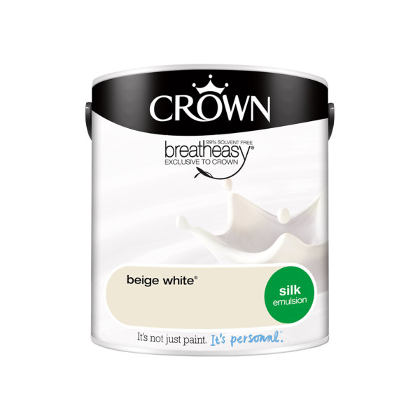 Crown Silk Emulsion 2.5Lt - Whites - Beige White