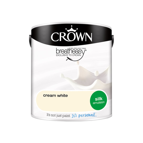Crown Silk Emulsion 2.5Lt - Whites - Cream White