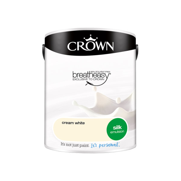 Crown Silk Emulsion 5Lt - Cream White