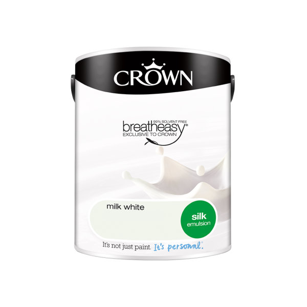 Crown Silk Emulsion 5Lt - Milk White