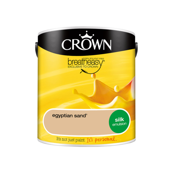 Crown Silk Emulsion 2.5Lt - Yellows - Egyptian Sand
