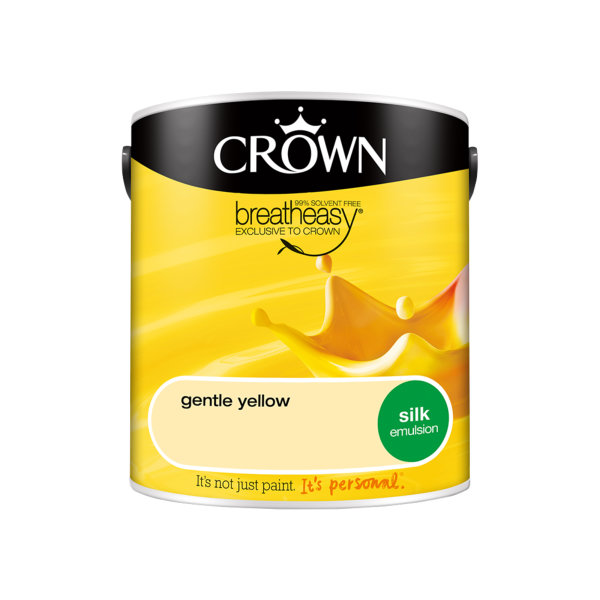 Crown Silk Emulsion 2.5Lt - Yellows - Gentle Yellow