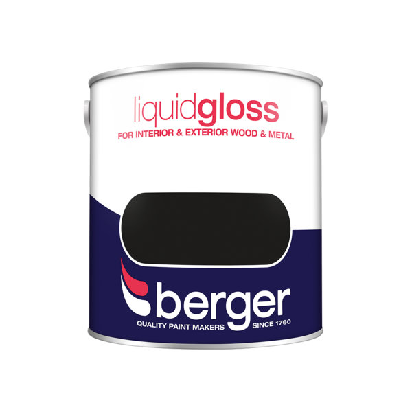 Berger Liquid Gloss 2.5Lt - Black