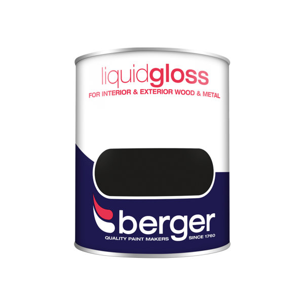 Berger Liquid Gloss 750ml - Black