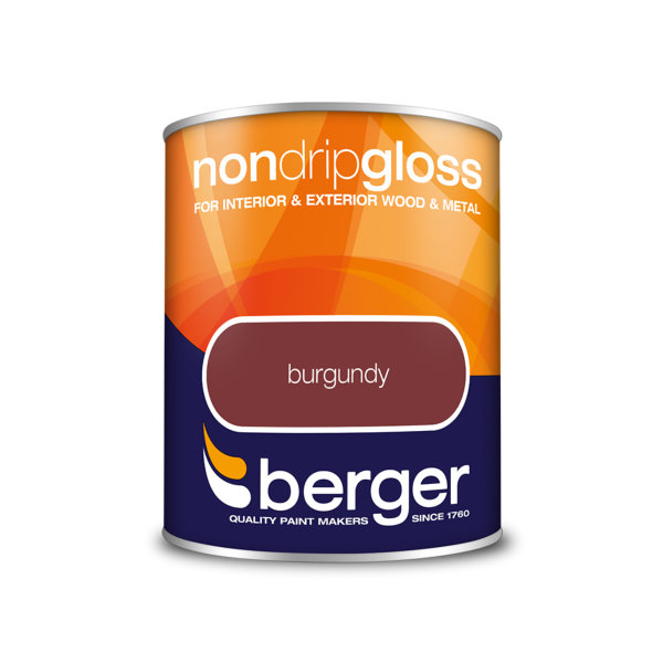 Berger Non-Drip Gloss 750ml - Burgundy