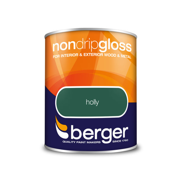 Berger Non-Drip Gloss 750ml - Holly