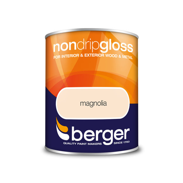 Berger Non-Drip Gloss 750ml - Magnolia