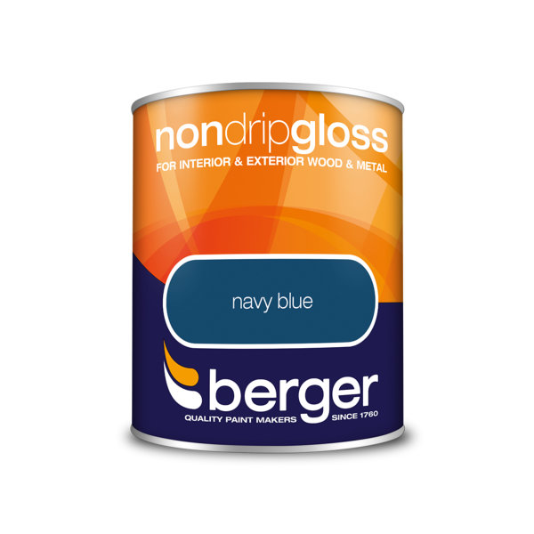 Berger Non-Drip Gloss 750ml - Navy Blue
