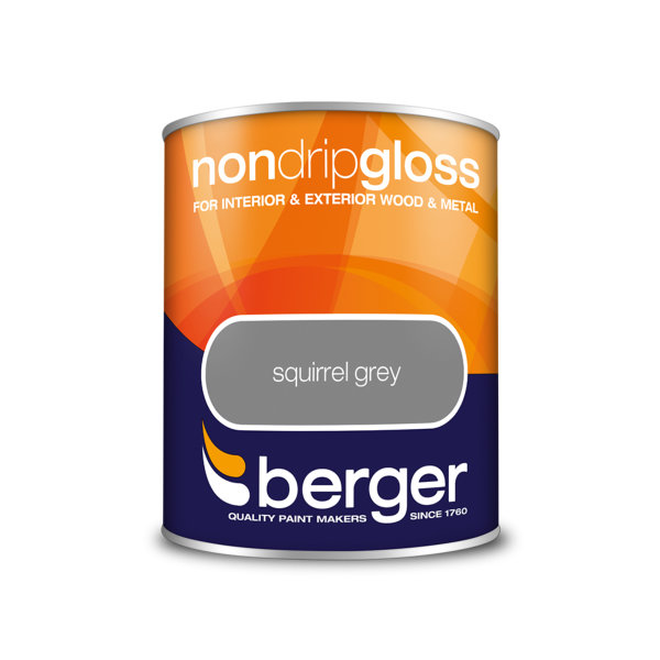 Berger Non-Drip Gloss 750ml - Squirrel Grey