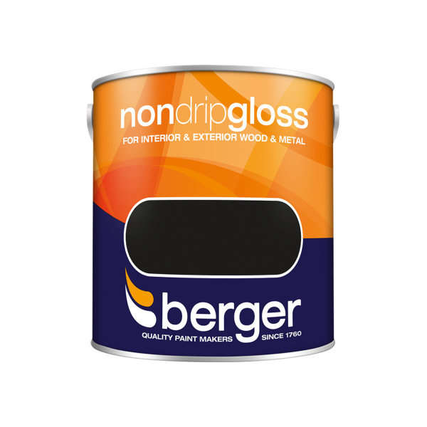 Berger Non-Drip Gloss 2.5Lt - Black