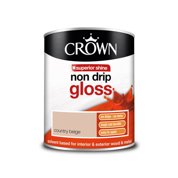 Crown Non-Drip Gloss 750ml - Country Beige