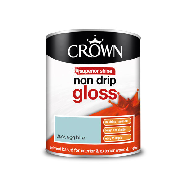 Crown Non-Drip Gloss 750ml - Duck Egg Blue