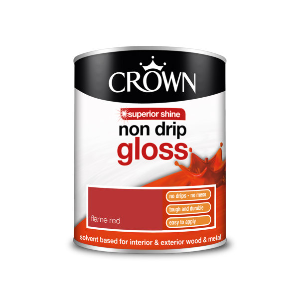 Crown Non-Drip Gloss 750ml - Flame Red