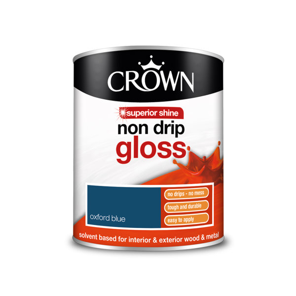 Crown Non-Drip Gloss 750ml - Oxford Blue