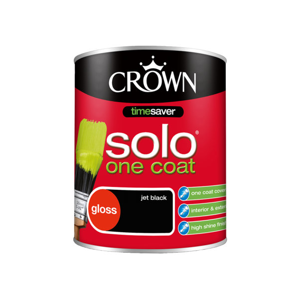 Crown Solo Gloss 750ml - Black