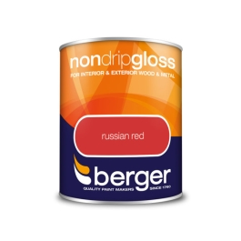 Berger Non-Drip Gloss 750ml - Russian Red