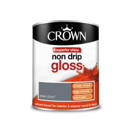 Crown Non-Drip Gloss 750ml - Steel Drum